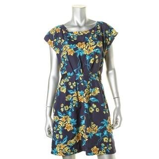 BeBop Womens Juniors Floral Print Polyester Casual Dress - L
