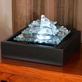 Bluworld Water Wonders Glacier Ice Tabletop Water Fountain