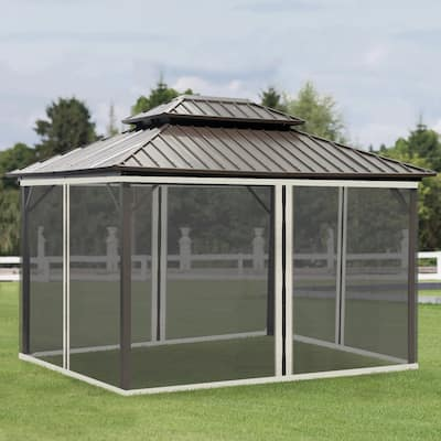 Outsunny Replacement Mosquito Netting for 10' x 13' Gazebo, Netting Only