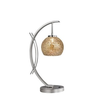 Woodbridge Lighting 13481STN-M00MIR 1 Light Table Lamp from the Eclipse Collecti