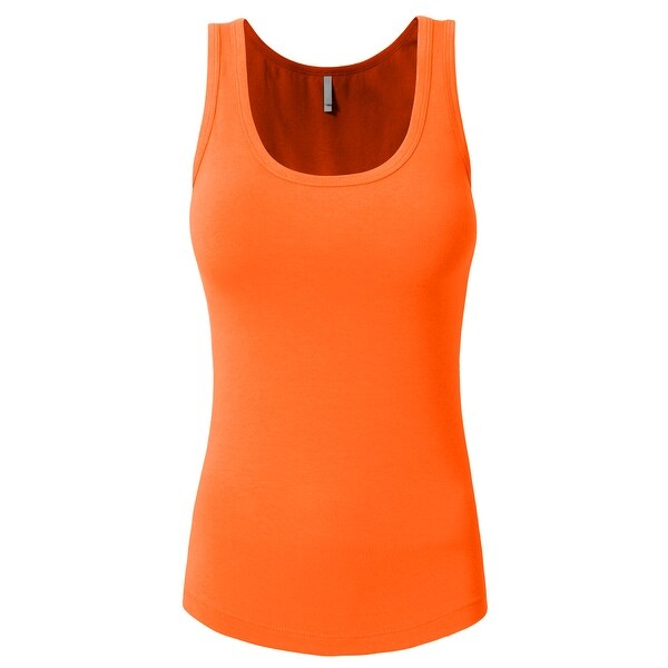 NE PEOPLE Solid Basic Relaxed Scoop Neck Tank Top S-3XL [NEWT28]