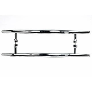 Top Knobs M854-12pair Nouveau Collection 12 Inch Center to Center Polished Chrome Brook Back to Back Door Pull Pair