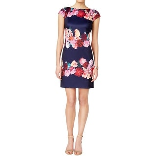 Vince Camuto Womens Wear to Work Dress Floral Print Boatneck