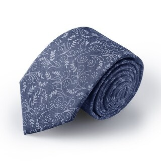 "Jacob Alexander Men's Slim Width 2.75"" Floral Neck Tie - One Size"
