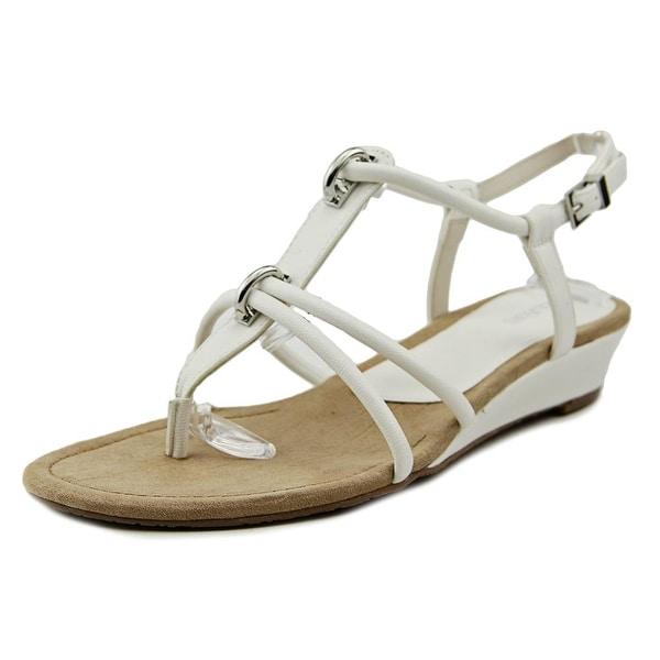 Alfani Carah Women  Open-Toe Synthetic White Slingback Sandal