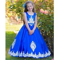 Triumph Dress Little Girls Royal Blue Lace Crete Light Flower Girl Dress