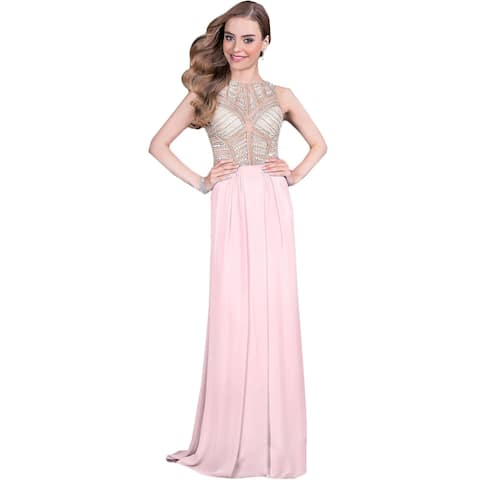 Terani Couture Chiffon Embellished Formal Dress