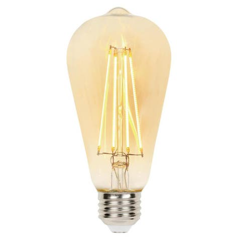Westinghouse 4317720 Pack of (6) 4.5 Watt Vintage Edison Dimmable ST20 - Amber