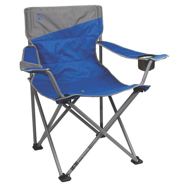 Marvelous Coleman Big N Tall Quad Chair Blue Grey Fits Up To 600Lbs Interior Design Ideas Lukepblogthenellocom