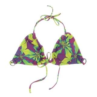 Koral Womens Printed Halter Swim Top Separates - M