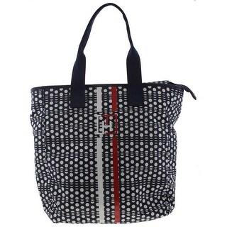 Tommy Hilfiger Womens Training Tote Handbag Signature Nylon - Large
