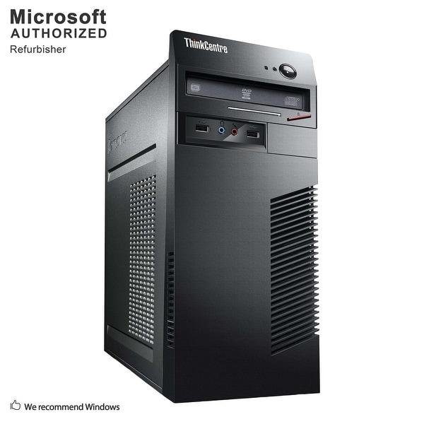 Certified Refurbished Lenovo M72E TW, Core i3-3220 3.3G, 8G DDR3, 120G SSD + 2TB, 1G VC, DVD, WIFI, BT 4.0, DVI, W10H64 (EN/ES)