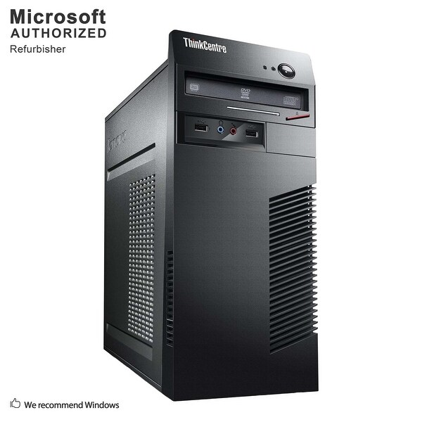 Lenovo M72E TW, Intel i5-3470 3.2GHz, 12GB DDR3, 2TB HDD, DVD, WIFI, BT 4.0, VGA, DVI, W10P64 (EN/ES)-Refurbished