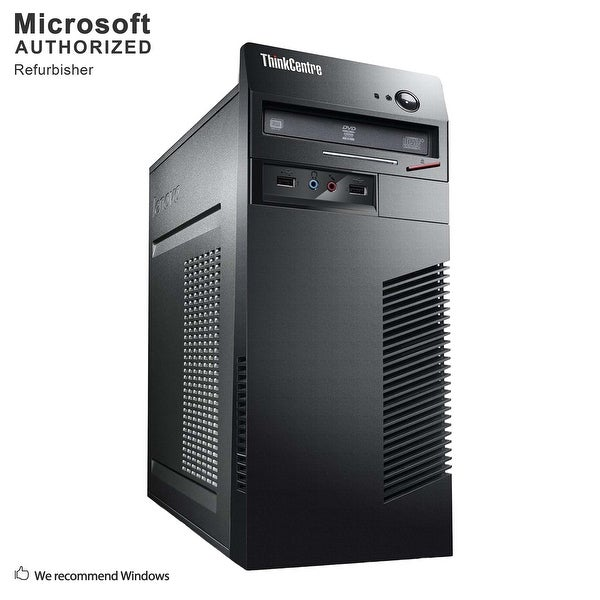 Lenovo M72E TW, Intel i5-3470 3.2GHz, 12GB DDR3, 3TB HDD, DVD, WIFI, BT 4.0, VGA, DVI, W10P64 (EN/ES)-Refurbished