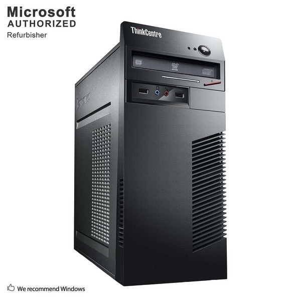 Certified Refurbished Lenovo M72E TW, Intel i5-3470 3.2G, 8GB DDR3, 120GB SSD + 2TB HDD, DVD, WIFI, BT 4.0, DVI, W10P64 (EN/ES)