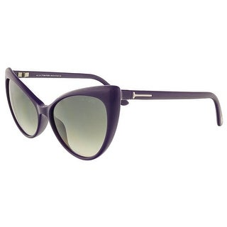 Tom Ford FT303/S 90B Anastasia Purple Full Rim Cateye Sunglasses