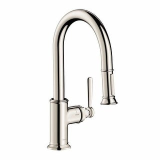Axor 16584 Montreux Single Handle Pull-Down Spray Prep Kitchen Faucet with Toggl
