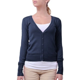 NE PEOPLE Women's Button Down Long Sleeve Knit Cardigan [NEWJ45]
