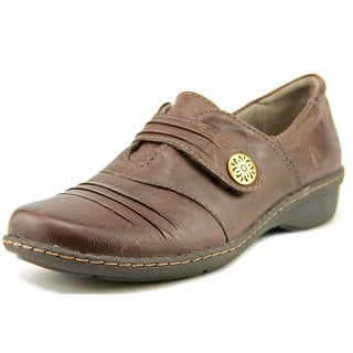Naturalizer Response Women W Round Toe Leather Brown Loafer