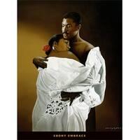 ''Ebony Embrace'' by Edward Clay Wright African American Art Print (32 x 24 in.)