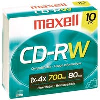 Maxell 630011 700Mb 80-Minute Cd-Rws (10 Pk)