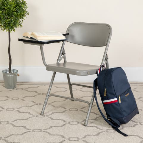 Premium Steel Folding Chair with Tablet Arm
