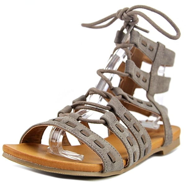 Jellypop Fergie Women Open Toe Synthetic Gray Gladiator Sandal