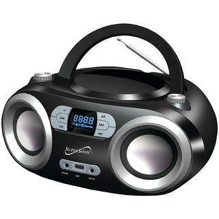 Supersonic Sc-509Bt Black Portable Bluetooth(R) Audio System (Black)