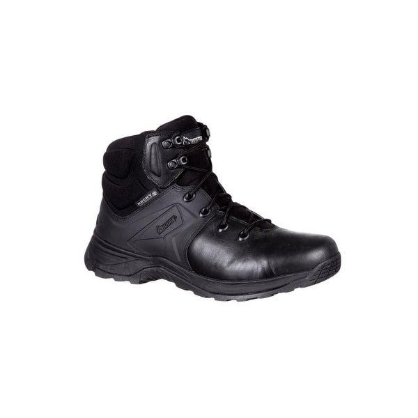 "Rocky Tactical Boots Mens Alpha Tac Waterproof 6"" Duty Black"