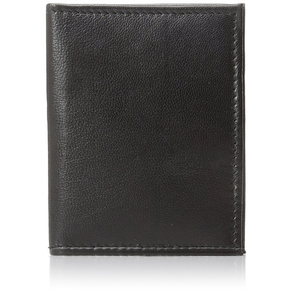 Improving Lifestyles SUN035BK Men's Bifold Wallet, Black Leather