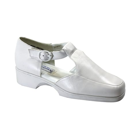 24 HOUR COMFORT Irma Womens Wide Width Comfort Leather Shoes