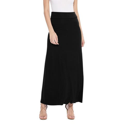 Women's Maxi Length Loose Fit Solid Skirt