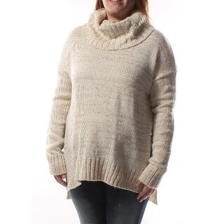 SAY WHAT? Ivory Cowl Neck Long Sleeve Sweater Juniors XL B+B