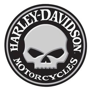 Harley-Davidson Embossed Willie G Skull Button Round Tin Sign, 14 inch 2011021