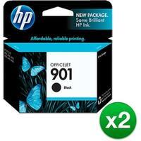 HP 901 Black Original Ink Cartridge (CC653AN)(2-Pack)