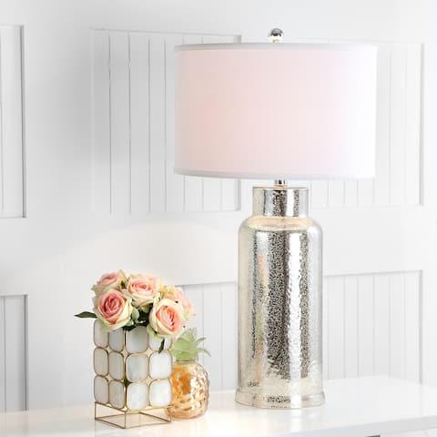 "SAFAVIEH Lighting 29-inch Bronze Bottle Glass Table Lamp (Set of 2) - 15.5""x15.5""x29"""