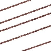 Antiqued Copper Plated Fine Snake Beading Chain 1mm Bulk By The Foot