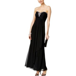 Xscape Womens Evening Dress Embellished Strapless