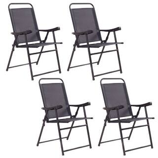 Costway Set Of 4 Folding Sling Chairs Patio Furniture Camping Pool Beach With Armrest|https://ak1.ostkcdn.com/images/products/is/images/direct/b9fc42b761f7b32aac44d618151a8c32451a1d6d/Costway-Set-Of-4-Folding-Sling-Chairs-Patio-Furniture-Camping-Pool-Beach-With-Armrest.jpg?impolicy=medium