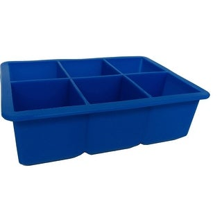 """6.5"""" Blue Giant Silicone Ice Cube Tray"""