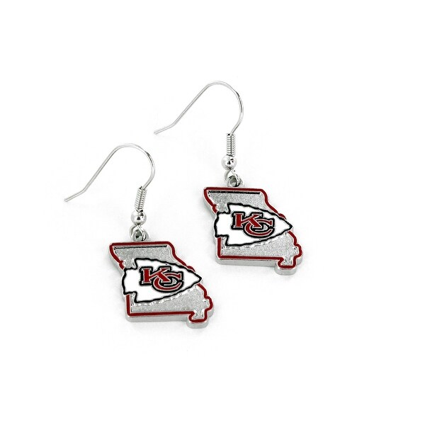 Kansas City Chiefs Earrings State Design. Opens flyout.