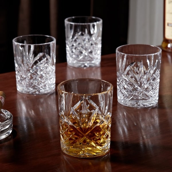 Dublin Cut Crystal Whiskey Glasses, Set of 4. Opens flyout.