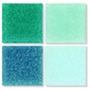 0.38 x 0.38 in. Glass Authentic Square Mosaic Tile - Blue Color&#44