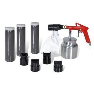 vidaXL Air Sand Blasting Kit 3 Bottles & 4 Nozzles