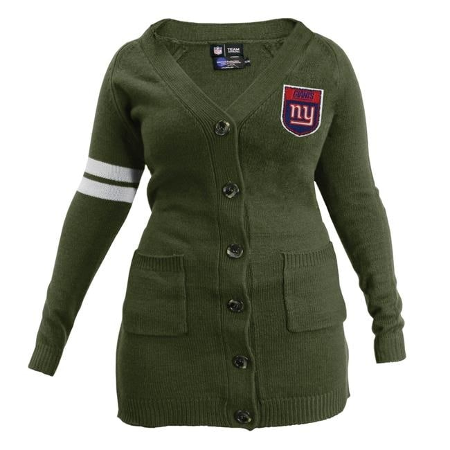 new product a67c6 32af5 NFL Womens Varsity Cardigan, New York Giants - Olive Large-XL