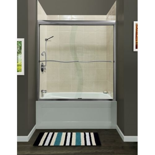 Miseno Msds6060 Suave 60 High X 60 Wide Frameless Shower Door With
