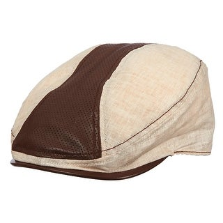 Stetson Men's Cotton and Leather Ivy Cabbie Hat
