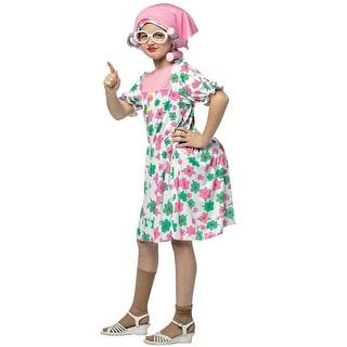 Rasta Imposta Granny Child Costume - Pink/White