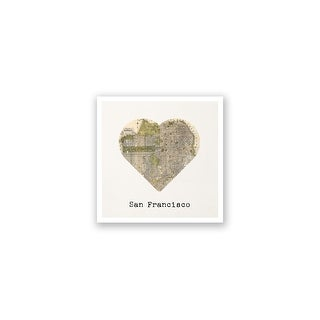 San Francisco City Map to My Heart Matte Poster 24x24