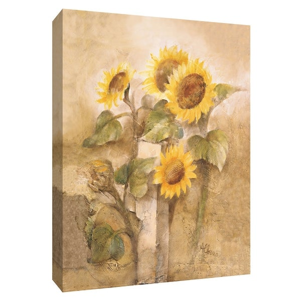"""PTM Images 9-154645 PTM Canvas Collection 10"""" x 8"""" - """"Sunflowers by the Fence I"""" Giclee Sunflowers Art Print on Canvas"""